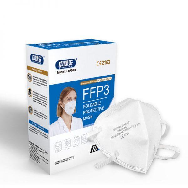 FFP3 sejas respirators bez vārsta