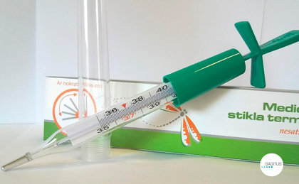 Medicīniskais stikla termometrs